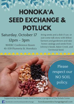Honokaa Seed Exchange Flyer